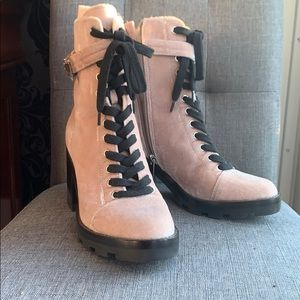 Marc Fisher Creamy Beige Suede Anke Boots